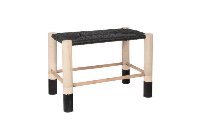banc marocain noir saramea petit tabouret pas cher. Black Bedroom Furniture Sets. Home Design Ideas
