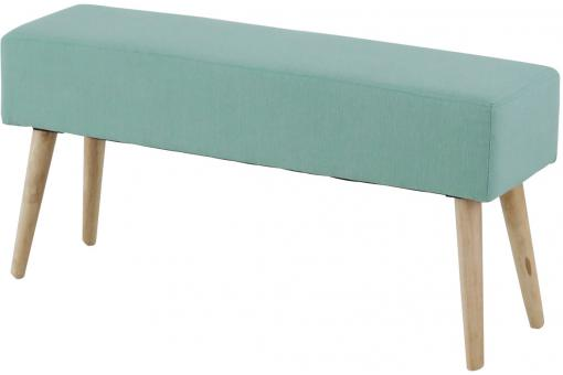 Banc Scandinave Turquoise MALLORY - Promos salle a manger