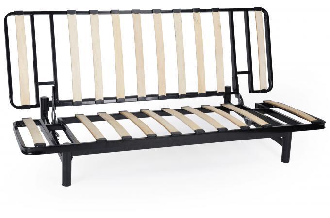banquette clic clac m tal noir structure seule minus. Black Bedroom Furniture Sets. Home Design Ideas