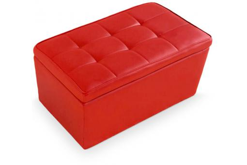 Banquette coffre simili rouge IGGLY