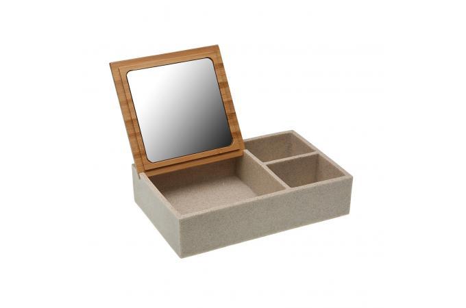 Boîte à Bijoux avec Miroir CERSEI - Porte-Bijoux Pas Cher