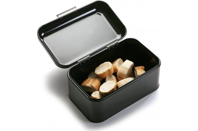 Boite pain en m tal noire pan boite pain pas cher for Boite a pain exterieur