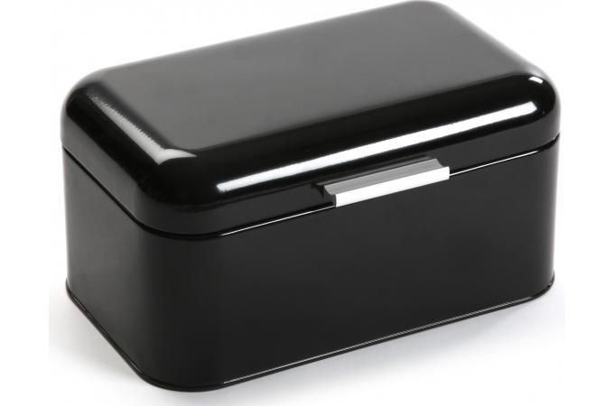 boite pain en m tal noire pan boite pain pas cher. Black Bedroom Furniture Sets. Home Design Ideas