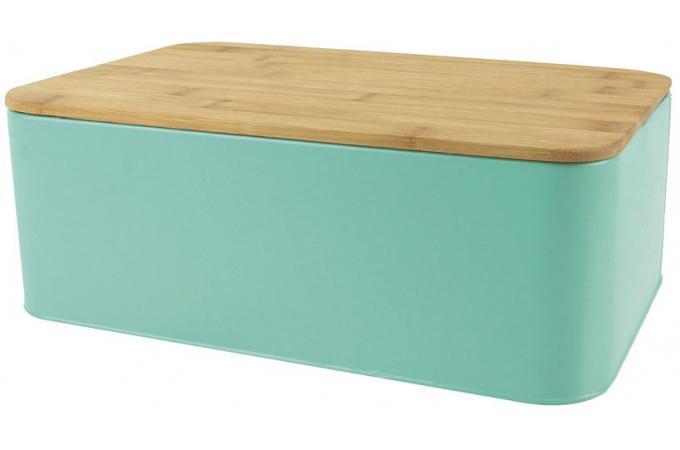 boite a pain avec couvercle en bambou coloris vert l31cm. Black Bedroom Furniture Sets. Home Design Ideas