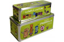 Lot de 2 Boites A Pharmacie Vertes - Rangement design