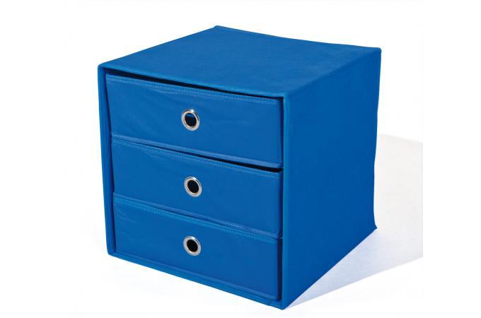 boite de rangement 3 tiroirs bleue billy bo te de. Black Bedroom Furniture Sets. Home Design Ideas