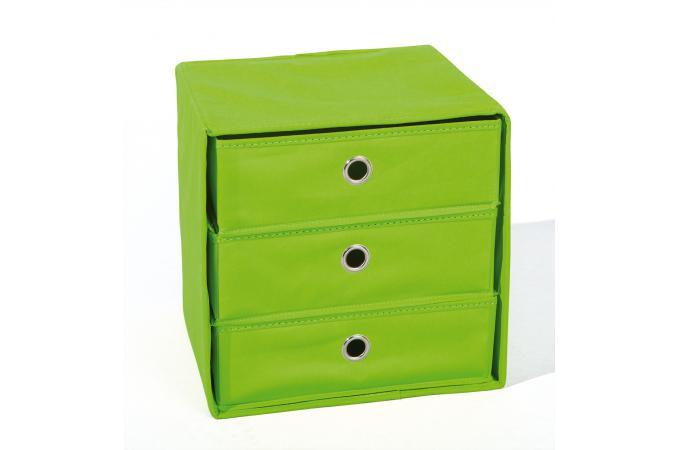 boite de rangement 3 tiroirs verte billy bo te de rangement pas cher. Black Bedroom Furniture Sets. Home Design Ideas