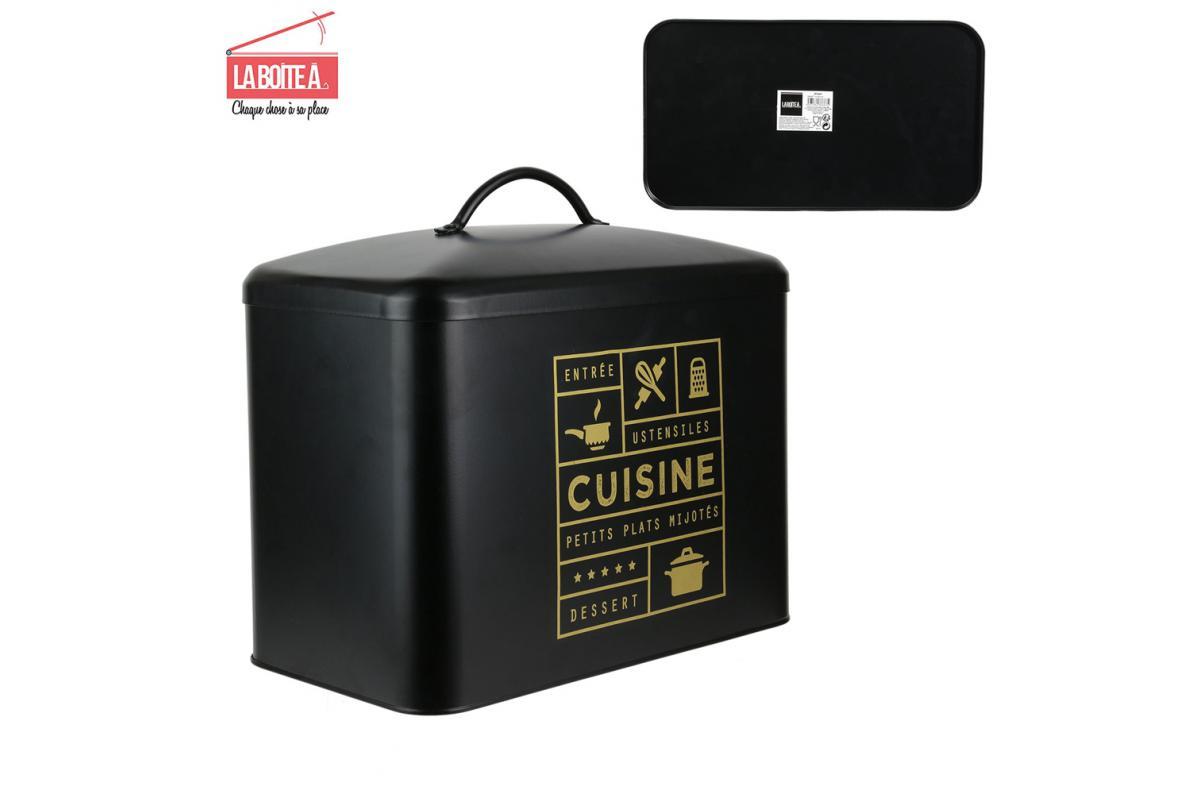 Boite De Rangement Metal Noir Canala Accessoires Cuisine