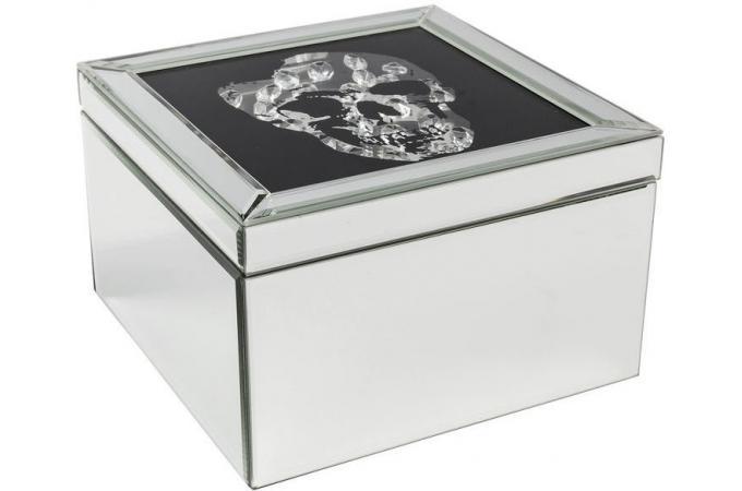 Boîte KARE DESIGN A Bijoux Imprimé Crâne Effet Miroir FRAME SKULL Plus  d\'infos