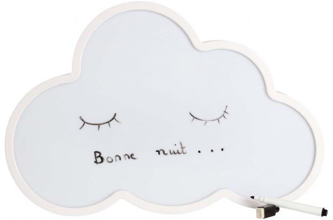 bo te lumineuse nuage effa able message lampe poser. Black Bedroom Furniture Sets. Home Design Ideas