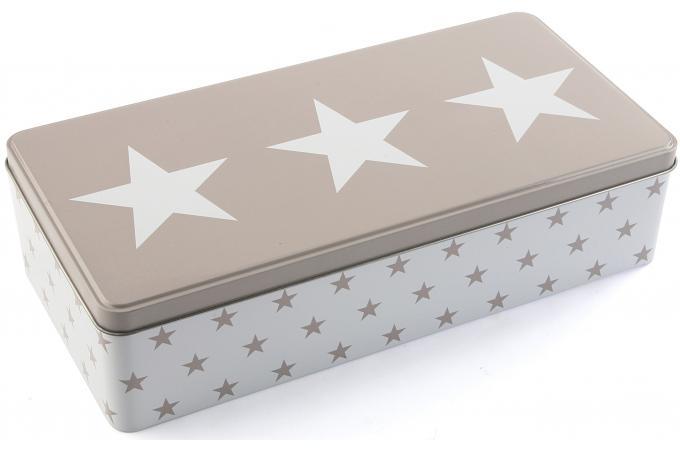 boite rectangulaire en m tal stars bo te de. Black Bedroom Furniture Sets. Home Design Ideas