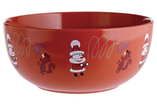 Bol à fruits secs en porcelaine Get nuts rouge NUTS BOWL