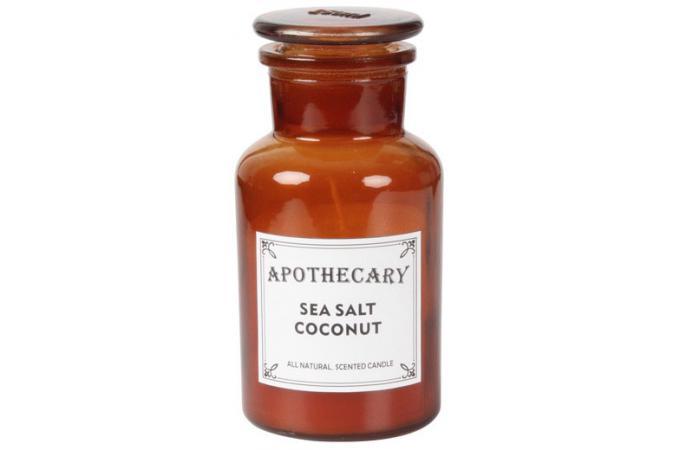 bougie coloris ambre parfum noix de coco apothecary bougie photophore pas cher. Black Bedroom Furniture Sets. Home Design Ideas