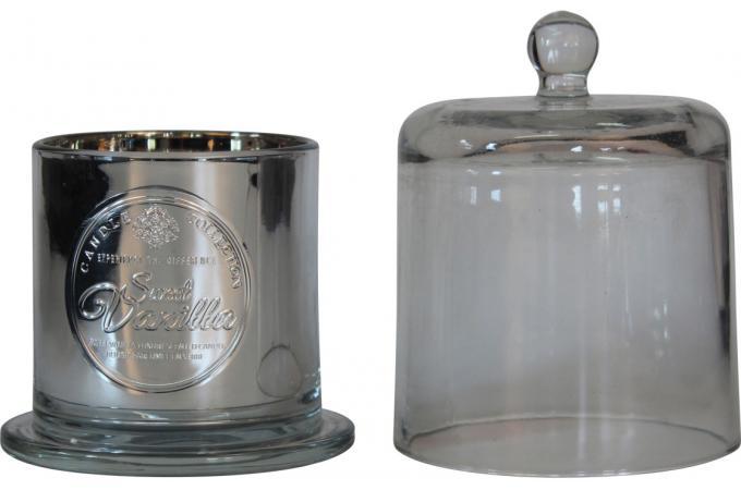 bougie noire parfum vanille cloche en verre perfume. Black Bedroom Furniture Sets. Home Design Ideas