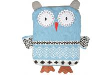 La chaise longue - Bouillotte Hibou Bleue H26 HAPPYOWL - Plaid design