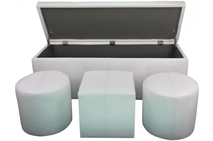 coffre bout de lit blanc maison design. Black Bedroom Furniture Sets. Home Design Ideas