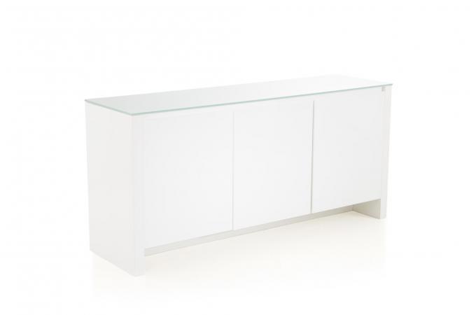buffet 3 portes laqu blanc abbey buffet pas cher. Black Bedroom Furniture Sets. Home Design Ideas