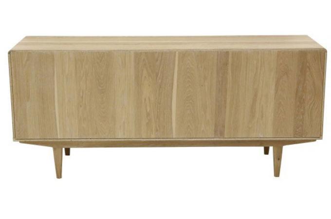 buffet scandinave effet ch ne blanchi 190x61cm ajna buffet pas cher. Black Bedroom Furniture Sets. Home Design Ideas