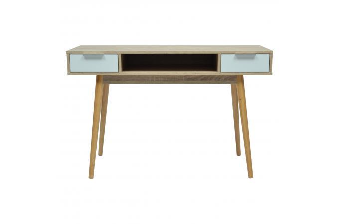 Bureau 2 tiroirs marron norwood bureau pas cher for Bureau design 2 tiroirs
