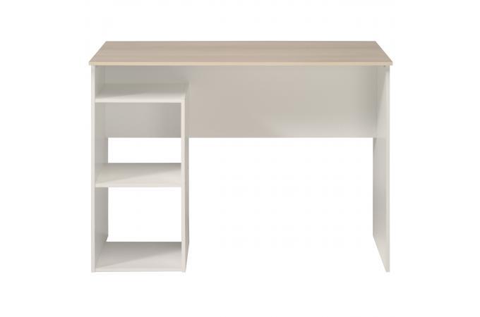 bureau avec rangement acacia blanc george bureau pas cher. Black Bedroom Furniture Sets. Home Design Ideas