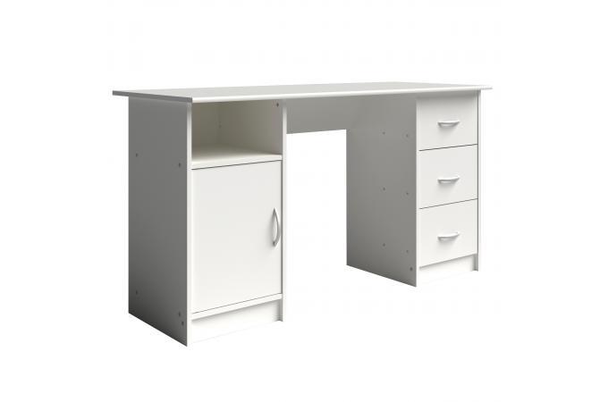Bureau avec rangements blanc iron bureau pas cher