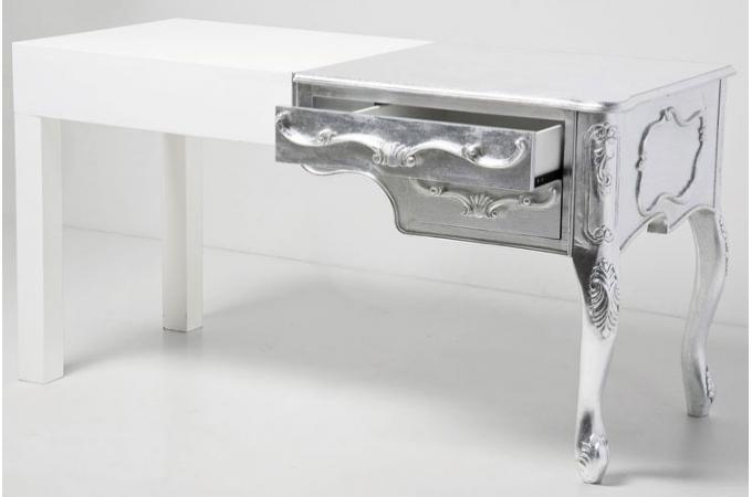 Bureau blanc laqué baroque mobilier de bureau design
