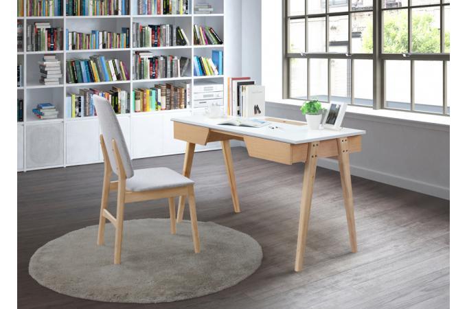 Bureau bois blanc frayn bureau pas cher