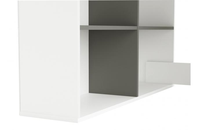 Bureau D Angle Gris : bureau d 39 angle blanc et gris lucille bureau pas cher ~ Teatrodelosmanantiales.com Idées de Décoration