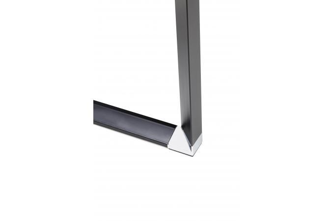Bureau dangle en verre wallas noir bureau pas cher