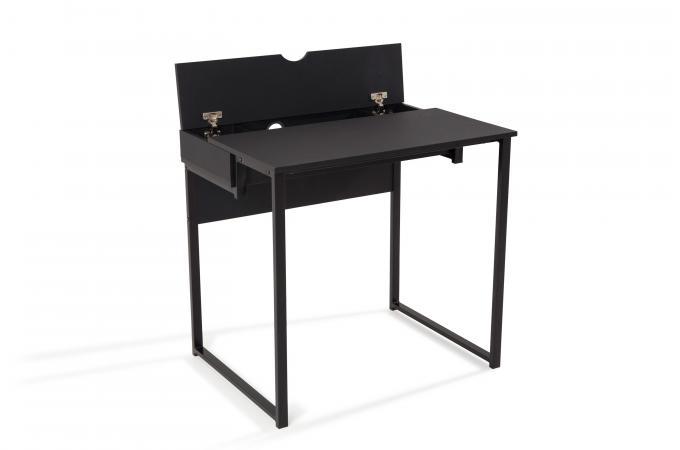 Bureau design noir kinks bureau pas cher