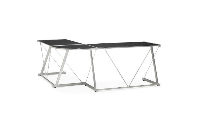Plateau de bureau en verre brillant bureau plateau noir l cm