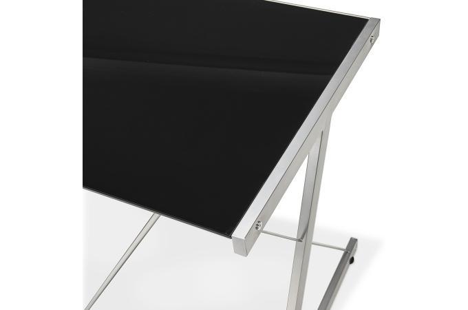 Bureau design plateau verre noir juna bureau pas cher