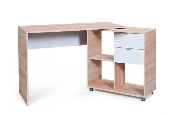 bureau modulable avec 4 espaces de rangement bois lucille bureau pas cher. Black Bedroom Furniture Sets. Home Design Ideas