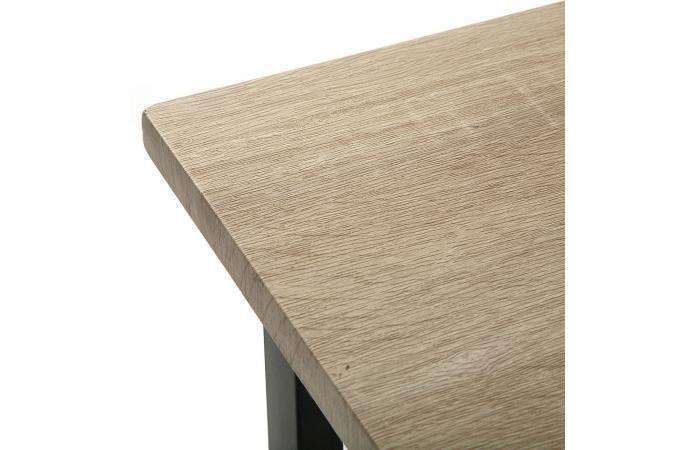 bureau pliable industriel bois et m tal moneva bureau pas cher. Black Bedroom Furniture Sets. Home Design Ideas