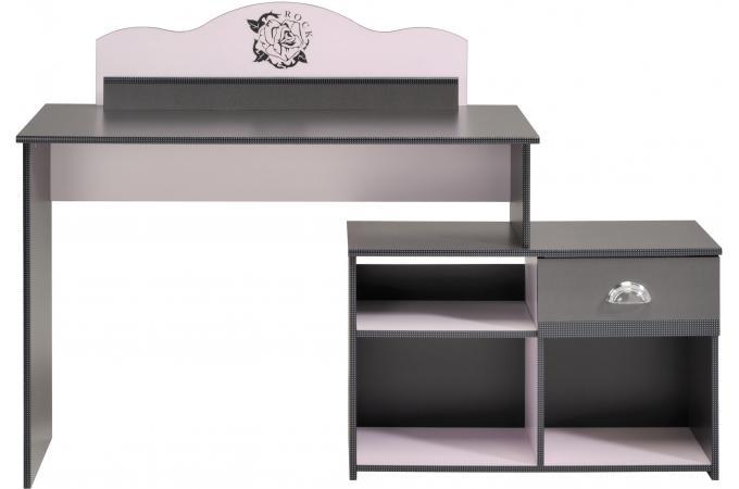 Bureau pour chambre enfant anthracite et rose elena chambre