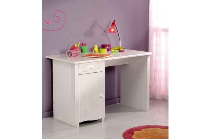 bureau pour chambre enfant blanc laqu young chambre enfant b b pas cher. Black Bedroom Furniture Sets. Home Design Ideas