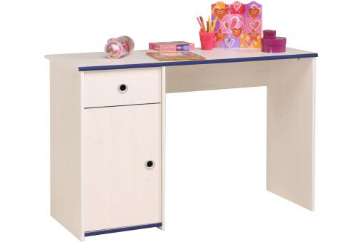 Bureau réversible tiroir pour chambre enfant en pin margaux