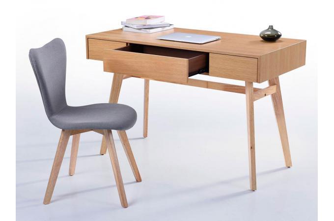 bureau scandinave 3 tiroirs bois penu bureau pas cher. Black Bedroom Furniture Sets. Home Design Ideas