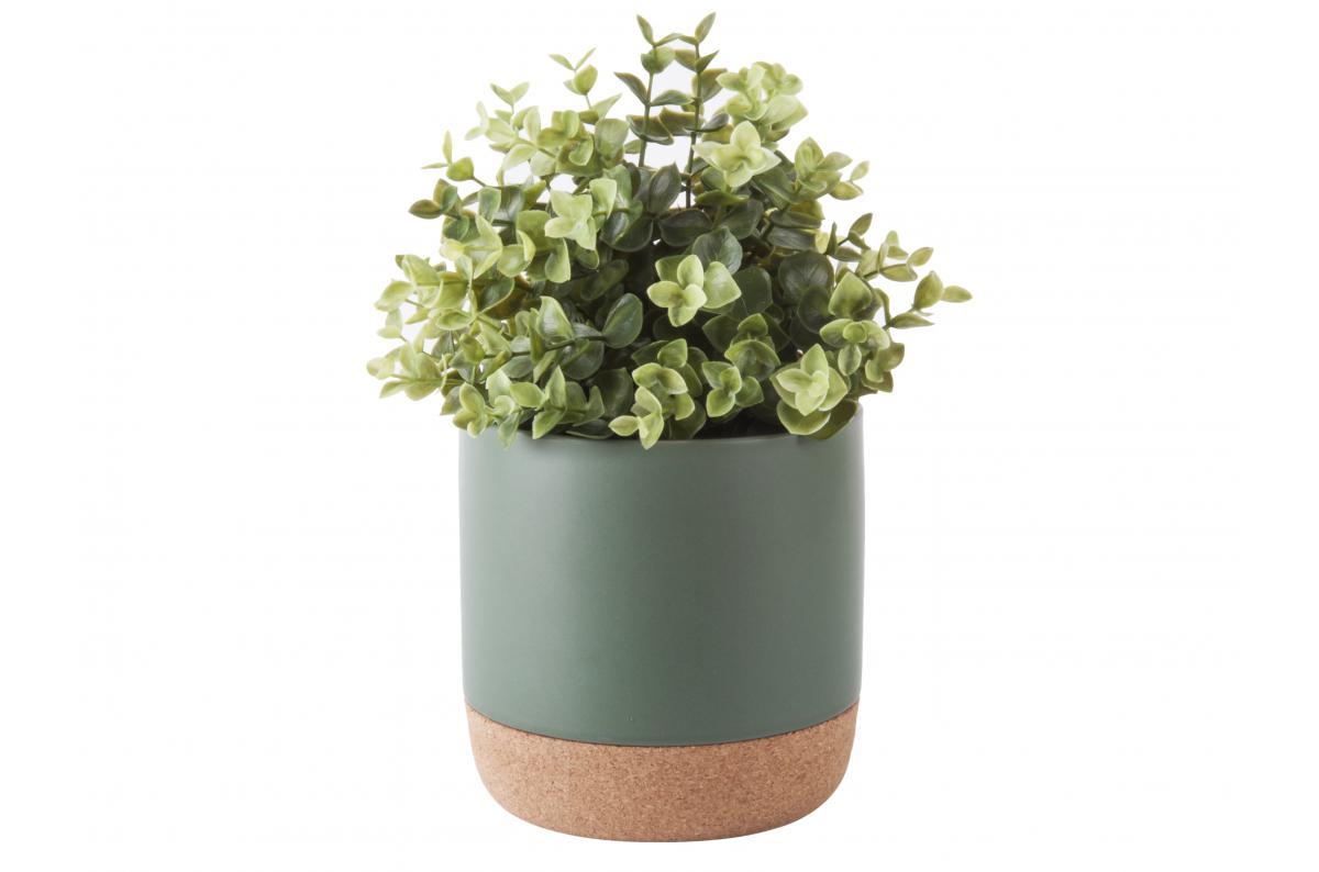Pot De Fleur Haut Pas Cher pot de fleur céramique et liège vert amman plus d'infos