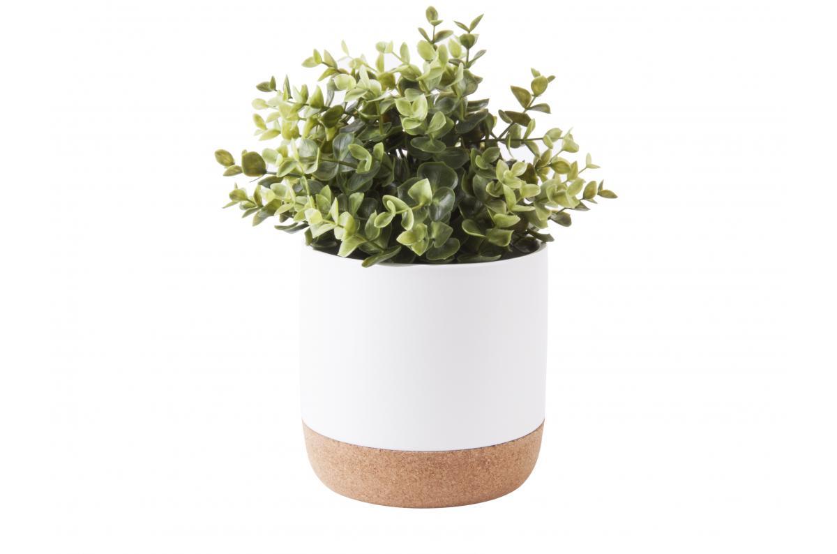 Pot de Fleur Céramique Liège Blanc AMMAN Plus d\'infos