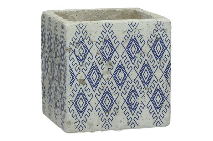 Pot De Fleur Pomax En Ceramique Bleu Tripoli Vase Pas Cher