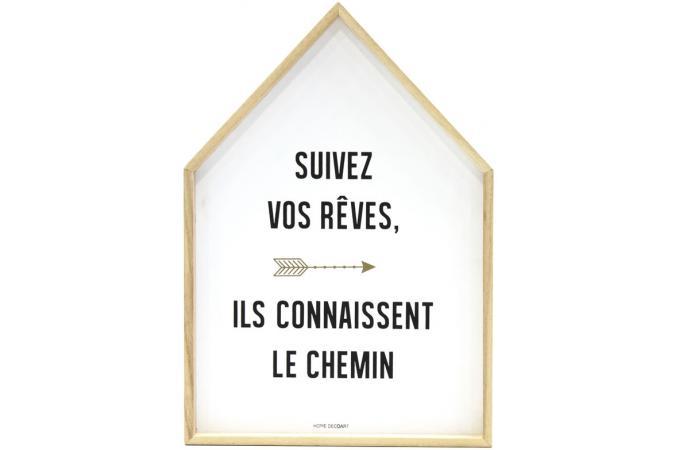 Cadre Déco Maison Blanc Homa 28 X 41 Cm Cadre Photo Pas Cher