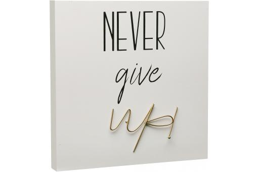 "Tableau ""Never Give Up"" Blanc RECENICA - 3s x home"
