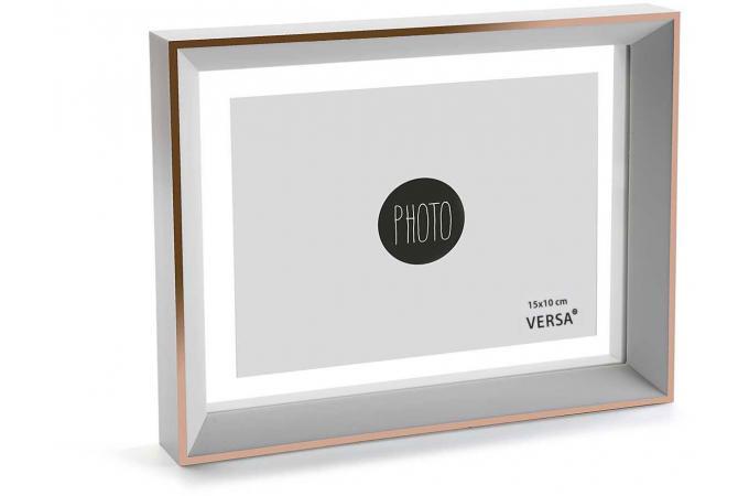 cadre photo blanc et dor erable 23 x 17 cm cadre photo pas cher. Black Bedroom Furniture Sets. Home Design Ideas