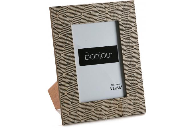 cadre photo 10x15 en bois impression g om triques medeola. Black Bedroom Furniture Sets. Home Design Ideas