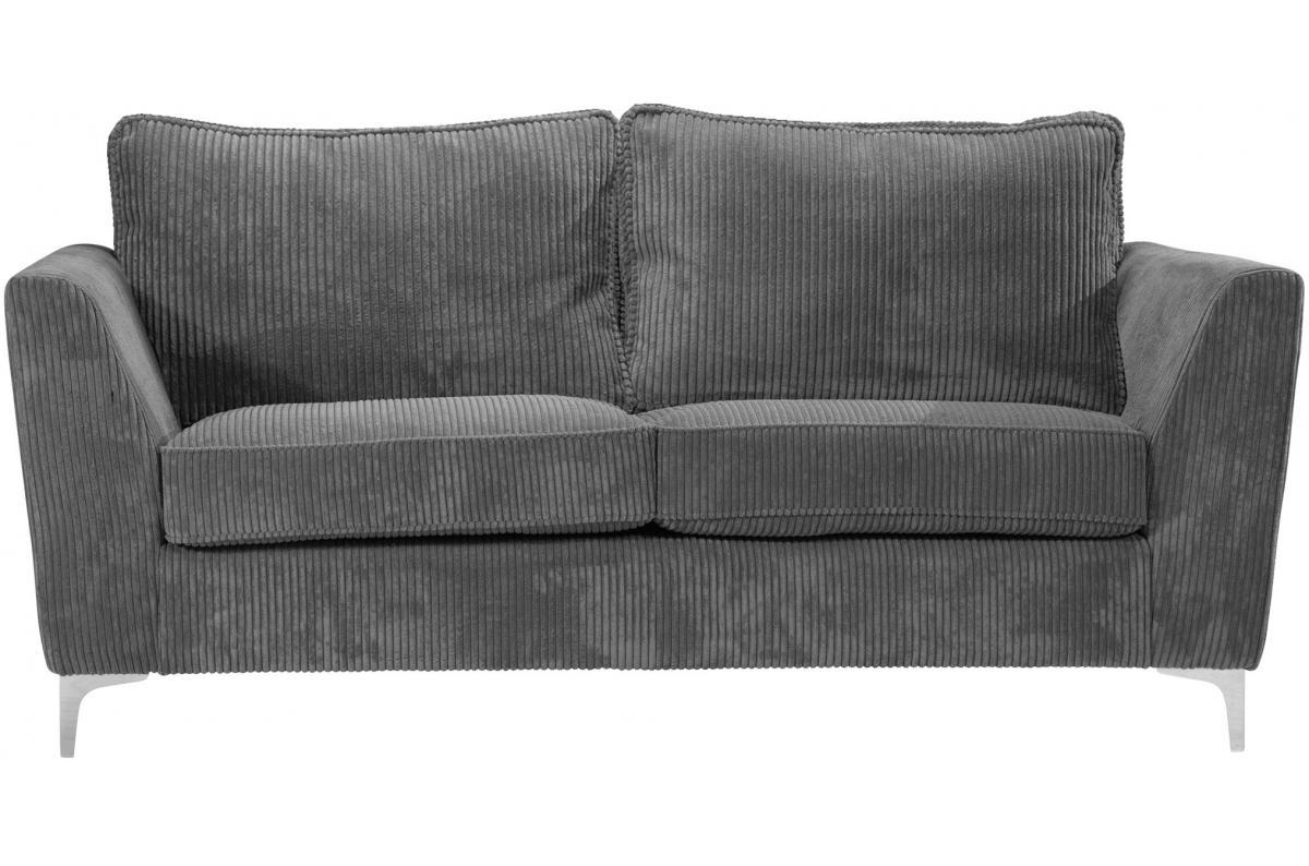 Canapé En Velours Cotelé canapé 2 places en velours côtelé gris bonita plus d'infos