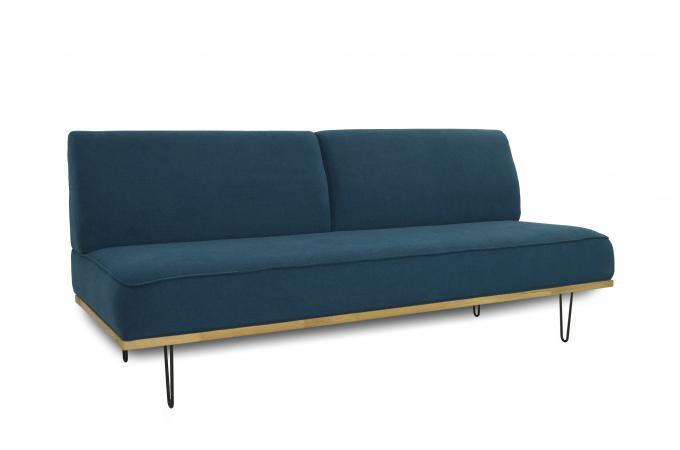 canap 2 places bleu zizkov canap banquette pas cher. Black Bedroom Furniture Sets. Home Design Ideas