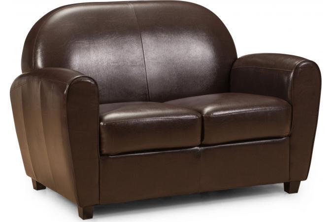 canap club 2 places marron heloise canap 2 places pas cher. Black Bedroom Furniture Sets. Home Design Ideas