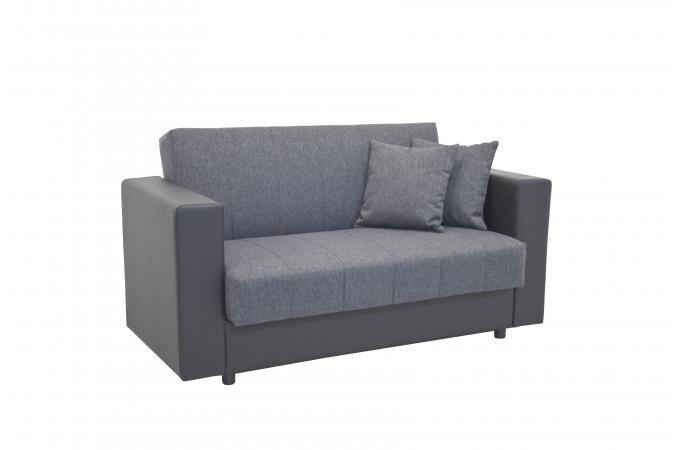 acheter en ligne 23d38 7d661 Canapé Convertible 2 Places Gris Noir LUSTY Plus d'infos