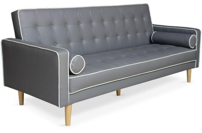 canap convertible scandinave 3 places gris liser blanc yamasa canap convertible pas cher. Black Bedroom Furniture Sets. Home Design Ideas